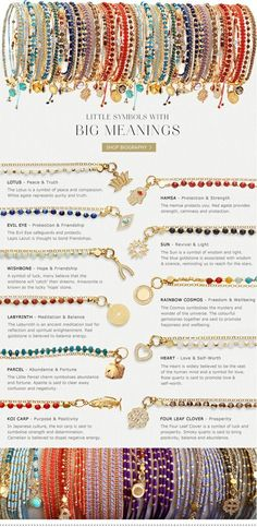 what different types and colors mean. #jewelry