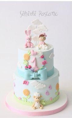 Baby Girl First Birthday Cake by Sihirli Pastane