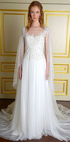 Swoon-Worthy Dresses From Bridal Fashion Week - Fall 2015 from #InStyle - Marchesa.