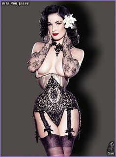 Dita Von Teese on the cover of Playboy in a Dark Garden corset with lace overlay and fabric covered garters. Dark Garden: Win Tickets To See Dita Von Teese! Burlesque Vintage, Lingerie Vintage, Sexy Lingerie, Burlesque Corset, Vintage Underwear, Burlesque Costumes, Lace Corset, Dita Von Teese, Top Models