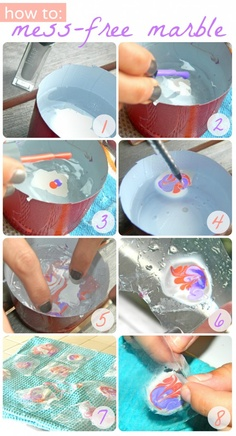 How to: Dry Water Marbled Nails with Zip-lock Baggies