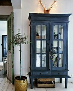 my scandinavian home: A lovingly renovated Norwegian home dating back to the >matte grey/blue cabinet Furniture Makeover, Diy Furniture, Vintage Furniture, Navy Blue Furniture, Indigo Furniture, Blue Painted Furniture, Painting Old Furniture, Apartment Furniture, Norwegian House