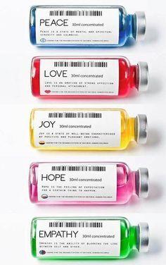 Emotional Medicine: Love, Hope, Joy, and Peace Drugs. Contemporary Art by Valerio Loi.