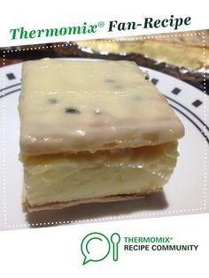 Recipe VANILLA SLICE by Dutchgirl, learn to make this recipe easily in your kitchen machine and discover other Thermomix recipes in Desserts & sweets. Cooking Cake, Cooking Recipes, Sweets Recipes, Cake Recipes, Bellini Recipe, Delicious Desserts, Yummy Food, Thermomix Desserts, Sweets Cake