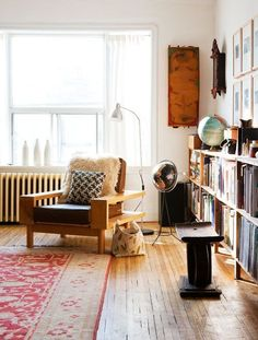 Eclectic reading nook
