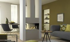 double sided fireplace   Contemporary double-sided fireplace (gas closed hearth) - METRO 80XT ...