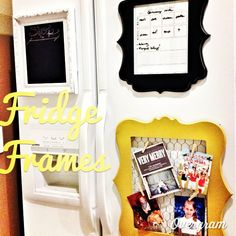 Pinterest Tuesday: DIY Fridge Frame Organization | Junk in the Trunk