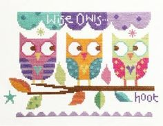 Three Owls - Cross Stitch Kit *NEW*