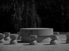 "preciousandfregilethings: "" Constantin Brâncuşi: The Table of Silence, 1937 (Târgu Jiu) "" Constantin Brancusi, Moving To Paris, Abstract Sculpture, Modern Sculpture, Student Gifts, South Of France, Art Festival, Installation Art, Great Artists"
