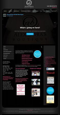 The website 'www.alexandrasbridalboutique.com' courtesy of @Pinstamatic (http://pinstamatic.com)