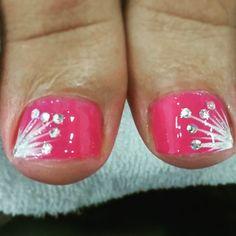 62 ideas for gel pedicure designs toenails pink toes Pedicure Nail Designs, Pedicure Nail Art, Toe Nail Designs, Toe Nail Art, Pedicure Ideas, Nail Ideas, Pretty Toe Nails, Cute Nails, My Nails