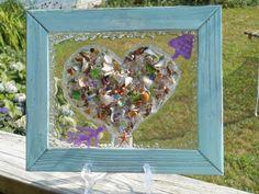 Heart Sun Catcher Heart Window Art Shabby Chic Heart by LookandSea, $45.00