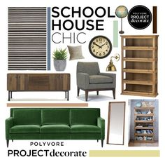 """""""Schoolhouse Chic With 4 Men 1 Lady"""" by rachel ❤ liked on Polyvore featuring interior, interiors, interior design, home, home decor, interior decorating, Crate and Barrel, Surya, Galbraith & Paul and Newgate"""