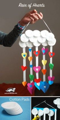 Rain of Hearts with Cotton Pads