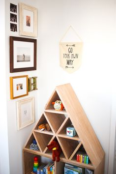 Love this nursery gallery wall! The mix of prints and photos in some of our favorite eclectic and traditional frames is perfection. Need help styling a gallery wall? Our team at Framebridge can help! Picture Frame Art, Traditional Frames, Go Your Own Way, Custom Framing, Framed Art, Personal Style, Gallery Wall, Nursery, Shelves