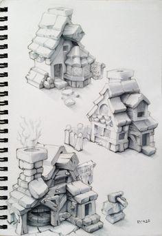 ArtStation - Town Houses, Ricardo Chamizo