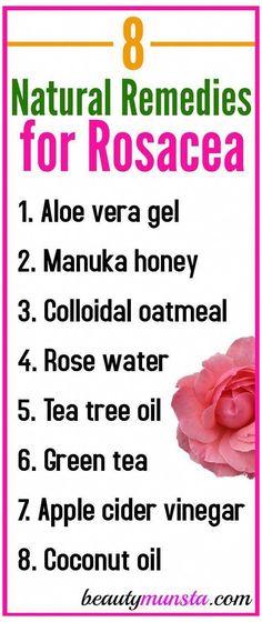 Natural Remedies For Rosacea, Rosacea Remedies, Health Remedies, Bloating Remedies, Red Face Remedies, Home Remedies For Skin, Natural Antibiotics, Hair Remedies, Herbal Remedies