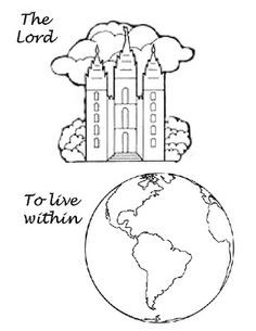 """Flip chart I pulled together for """"The Lord Gave Me a Temple"""""""