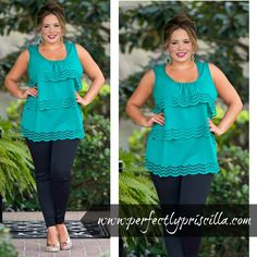 #Emerald #Top #Spring #Fashion #PlusSize #Curvy #Shop