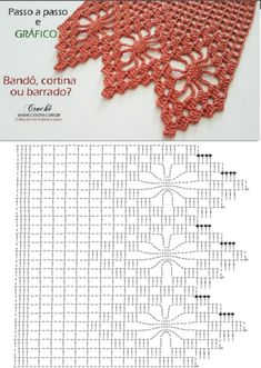 Crochet Border Patterns, Crochet Curtain Pattern, Crochet Blanket Edging, Crochet Baby Dress Pattern, Crochet Lace Edging, Crochet Curtains, Crochet Tablecloth, Crochet Diagram, Filet Crochet