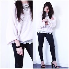 San Marina Sandals, Topshop Jeans, Zara Sweater