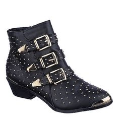 Studded Ankle Boots Worn once. The Hardware is gold and on the right toe it has small scratches. Other than that they're in great condition! True to size! Cheaper price on Mercari! Shoes Ankle Boots & Booties