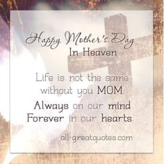 Happy Mother's Day to my mom in Heaven, miss her every second of every day ❤️ I hope all moms have a great day ❤️