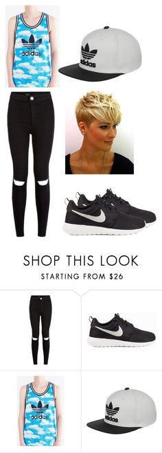 """Halsey inspired outfit"" by kijannakap on Polyvore featuring NIKE, adidas Originals and adidas"