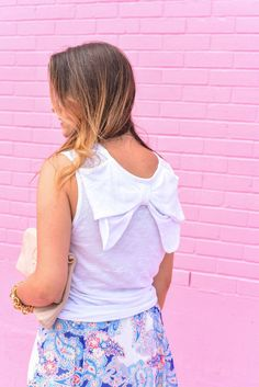 a darling bow back tank!