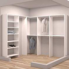 Create your own DIY closet design with these closet makeover ideas. Corner Closet, Front Closet, Walk In Closet, Entryway Closet, Bedroom Corner, Bedroom Closet Design, Master Bedroom Closet, Closet Designs, Bathroom Closet