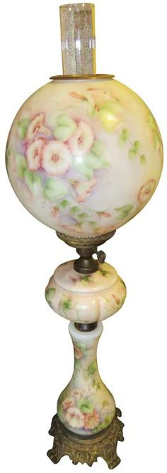 Porcelain Gone with the Wind Lamp : Lot 1306