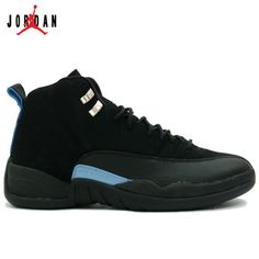 the best attitude a5b9f a2125 136001-014 Air Jordan XII 12 Retro Mens Basketball Shoes Nubuck Black Blue  A12008,