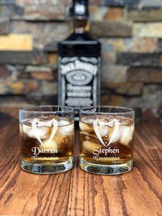One Personalized Whiskey Glass - Tumblers - Glasses - Groomsmen- Wedding Gift- Anniversary - Birthday- Custom Glassware - Best Man- Husband