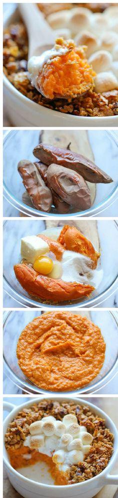 Sweet Potato Casserole - 11 Best Casserole Recipe Tutorials | GleamItUp