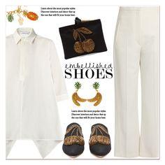 """""""Magic Slippers: Embellished Shoes"""" by paculi ❤ liked on Polyvore featuring MaxMara, Khaite, Sanayi 313, Dolce&Gabbana, StreetStyle and embellishedshoes"""