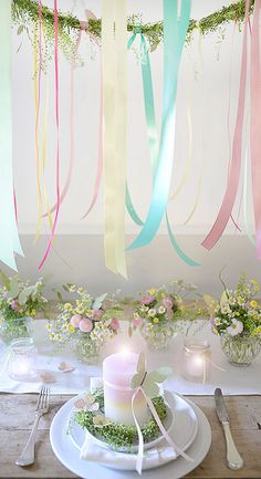 maikranz tischdekoration wunderschön-gemacht Grand Art, Butterfly Party, Spring Home Decor, Beltane, Pretty Pastel, Spring Colors, Event Decor, Wedding Table, Wedding Events
