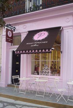 Peggy Porschen cakes: Ebury Street, London...how cute is this?