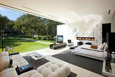 Modern Glass Pavilion by Steve Hermann - Master Bedroom