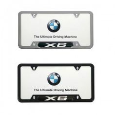 bmw x6 license plate frame black or polished stainless steel