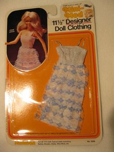 VINTAGE MINI-MOD DESIGNER DOLL CLOTHING PROM DRESS OUTFIT MIP BARBIE CLONE