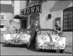 17 - Tom Hegre and friends after a Rally - circa 1960. - Over 2100 Views - LGMSports.com