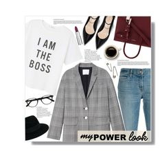 """Girl Power"" by yoo-q ❤ liked on Polyvore featuring J Brand, MANGO, Yves Saint Laurent, Maison Michel, TIBI, Givenchy, EyeBuyDirect.com, contestentry and MyPowerLook"