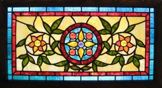 Jeweled Transom Stained Glass Window   by octobercountry1
