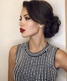 Terrific updo on black hair hair updos Simple Updos For Shoulder Length Hair That Look Amazing Elegant Hairstyles, Bride Hairstyles, Hairstyles Haircuts, Pretty Hairstyles, Hairstyle Photos, Vintage Wedding Hairstyles, Hairstyle Ideas, Classic Hairstyles, Hairstyles Pictures