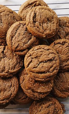 Ginger Molasses Cookies by Amanda Fredrickson Ginger Molasses Cookies, Ginger Bread Cookies Recipe, Almond Cookies, Molasses Bread, Healthy Gingerbread Cookies, Gluten Free Gingerbread, Soft Cookie Recipe, Biscuits, Italian Cookie Recipes