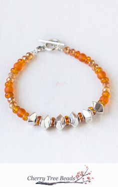 Orange Flame Bracelet