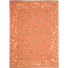 Safavieh Courtyard Terracotta/Cream 8 ft. x 11 ft. Indoor/Outdoor Area Rug CY7108-21A7-8 at The Home Depot - Mobile