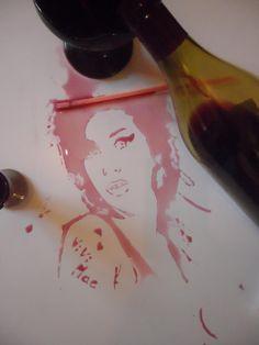 vivi mac amy winehouse   Food Speed Painting par Vivi Mac   Vivi Mac video portrait photo peinture image dessin aliment
