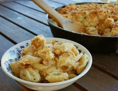 PEAR and GORGONZOLA MAC and CHEESE - When Wisconsin Gorgonzola is paired with something sweet, such as pears, it takes on a luscious and slightly piquant flavor that works perfectly in a rich cream sauce.