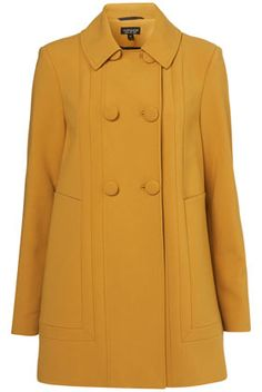 love this color! mustard A-Line coat #fashion #shopping #coat